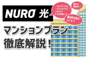 【重要】NURO光のマンション利用なら知っておくべき2つのプランとその違い!