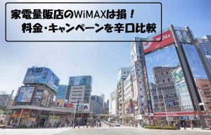家電量販店のWiMAXは損!料金・キャンペーンを辛口比較