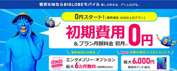BIGLOBEモバイル公式サイト